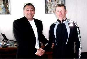 Валерій Чинуш та Іван Гешко. 2005 р. Початок тісної співпраці. Фото: Георгій Мазурашу