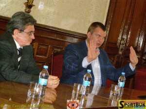 Богдан Вітовський і Дмитро Булатов на зустрічі в ОДА