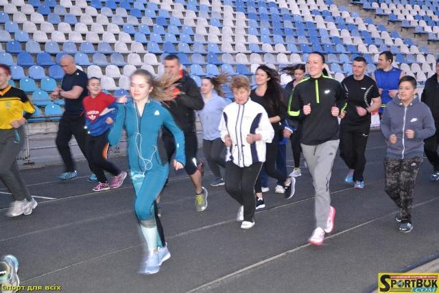 Оздоровча пробіжка з олімпійцями та сюрпризами 29.03.17 (фото, відео)