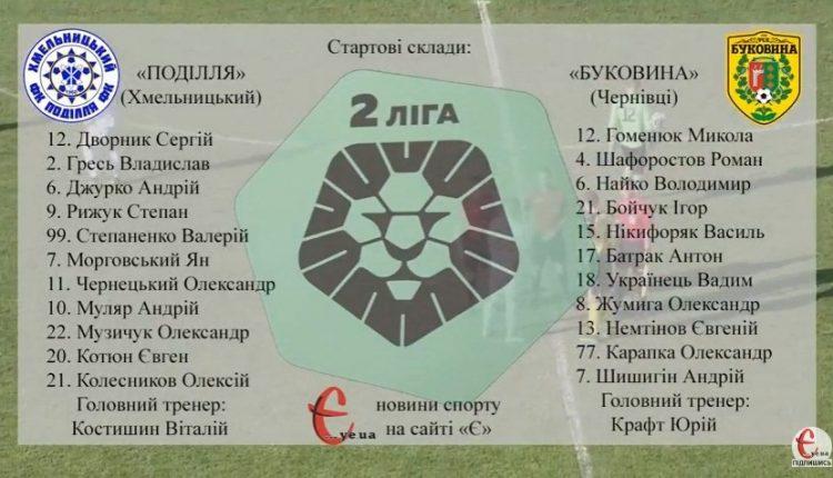 Футбол: «Поділля» – «Буковина» 13.08.17 в прямому ефірі (відео)