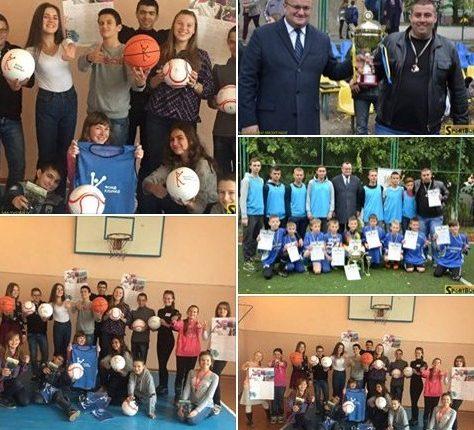 Чернівецька школа отримала «Посилку успіху» від Кличків (фото, відео)