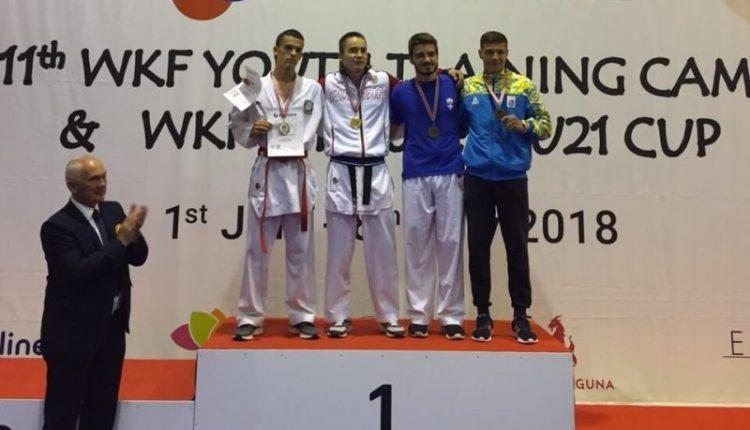 Ще один чернівчанин – на п'єдесталі Karate1 Young League 2018